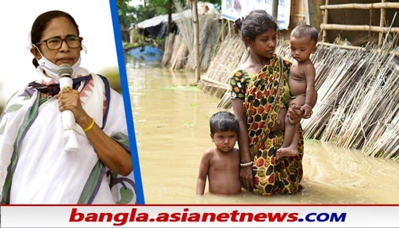 CM Mamata Banerjee visit flooded area by road RTB