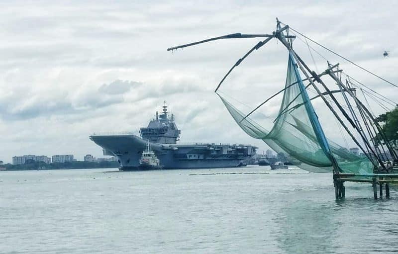 Aircraft Carrier INS Vikrant begins sea trials-VPN