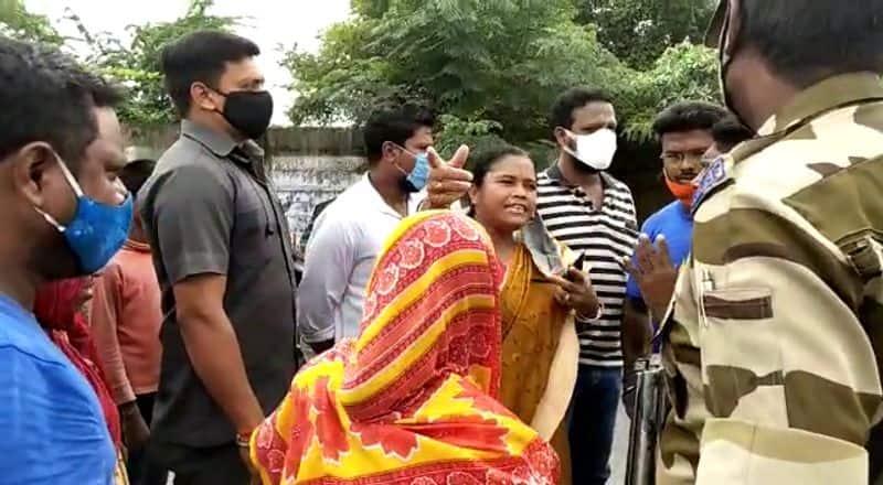 Haldia BJP MLA Tapsi Mandal was harassed by locals bpsb