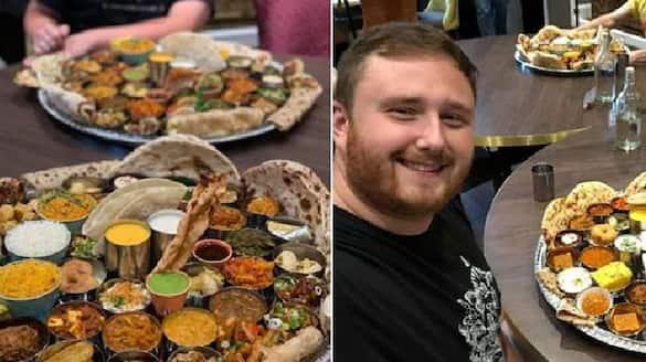 indian restaurant in england with huge food challenge