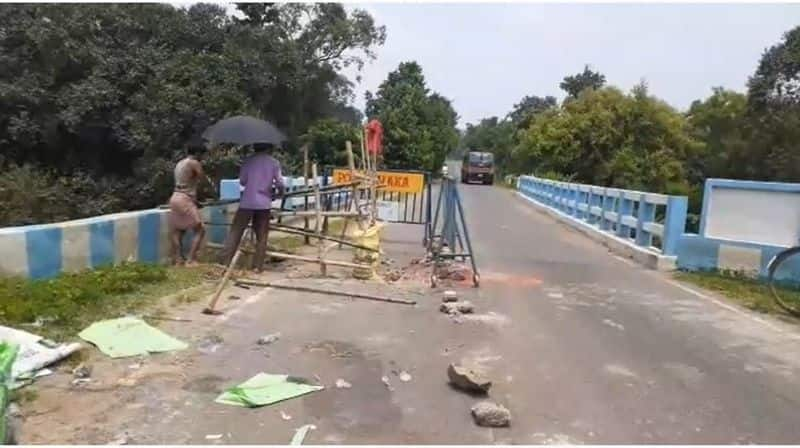 the restoration of the collapsed bridge started in Purulia bmm