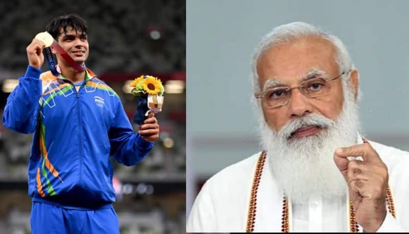 PM Modi phone call to Neeraj Chopra after win gold medal in tokyo 2020 olympics spb