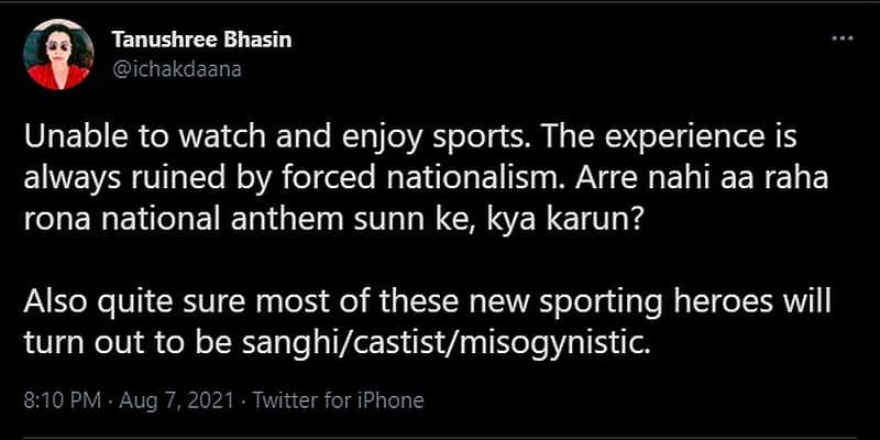 Olympics Gold medallist Neeraj Chopra is being branded as Sanghi on Twitter-VPN