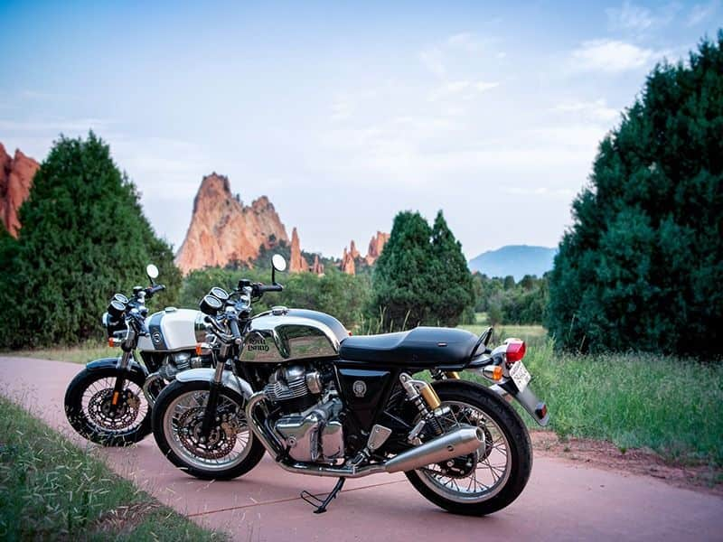 Saietta Group designed an electric conversion kit for the Royal Enfield GT 650 spb