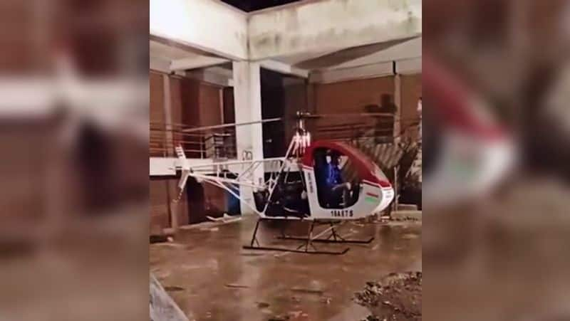 Viral Video - Maharashtra school dropout dies as his home-build helicopter's blades slash his throat ALB