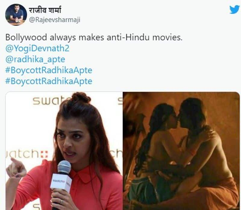 boycott radhika apte hashtag trending in social media
