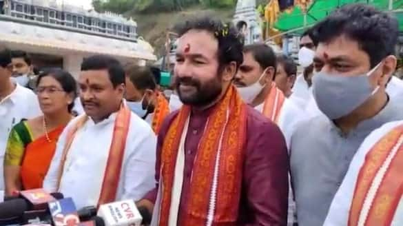 union minister Kishan Reddy hoists national flag at Bjp office in Hyderabad