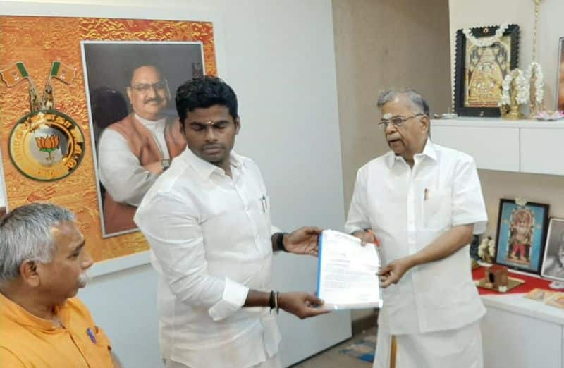 The senior leader who gave his resignation letter to Annamalai .. Action to relinquish all responsibilities.