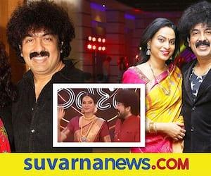 Singer Gurukiran and wife Pallavi celebrates 25th wedding anniversary in Raja rani show vcs