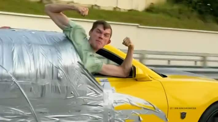Video of Russian social media influencer duct-taped to a car that drove at  112 mph leaves internet shocked