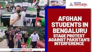 Afghan students in Bengaluru stage protest against Pakistan's interference