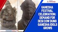 Ganesha festival celebration: Demand for desi cow dung Ganesha idols grows