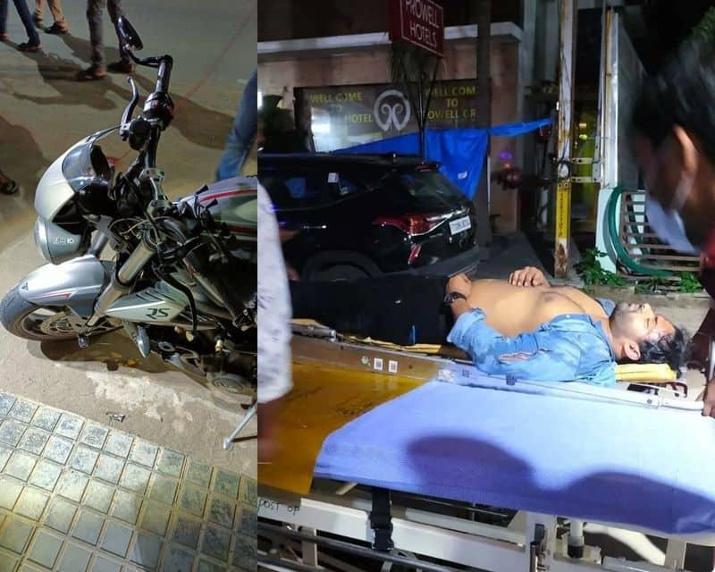 Telugu actor Sai Dharam tej injured in road accident at Hyderabad  vcs
