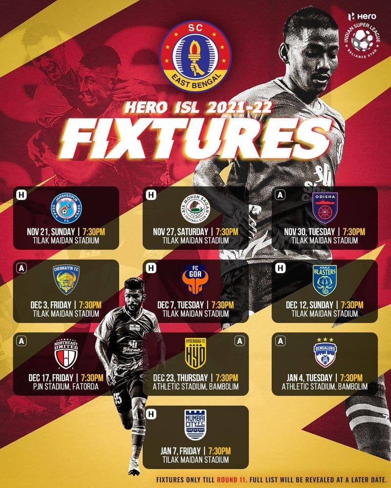 2021-22 fixtures announced, ATK Mohun Bagan squares off against Kerala Blasters on opening day-ayh