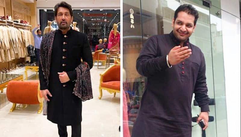 Celebrity fashion designer Vikram Saraf styles actor Shekhar Suman and family this festive season