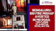 Bengaluru: Big fire mishap averted in MG Road, two floors of Ajantha Hotel gutted