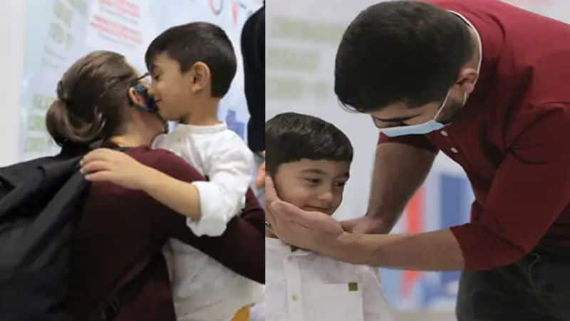 Afghanistan 3 year old child lost in kabul blasts met his family after two weeks, stayed in Doha