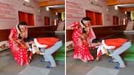 क्या देखा है ऐसा दूल्हा: शादी के बाद पत्नी को पैर छूता देख, खुद झुककर लिया पत्नी का आशीर्वाद, देखकर दंग रह गई