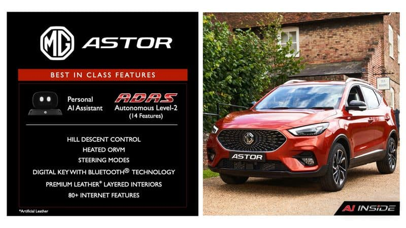 Specialties And Features Of MG Astor SUV