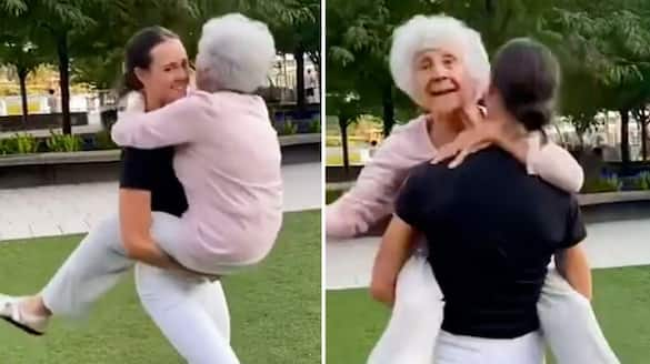 Woman dancing with her 93-year-old grandma leaves netizens delighted; watch the video-tgy