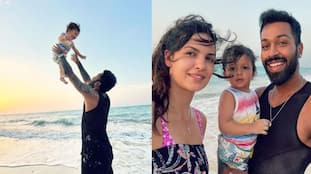 IPL 2021: Hardik Pandya chills with wife Natasa Stankovic and son Agastya at beach, see pictures