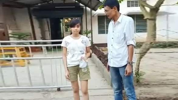 Assam 19 year old girl wearing shots stopped from giving exam