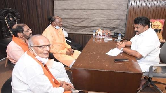 bhagyanagar utsav committee members meet minister talasani srinivas yadav