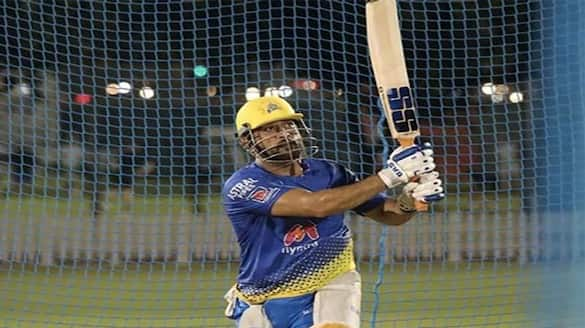 IPL 2021:  Chennai Super Kings shares Captain MS Dhoni Practice Match video of hitting sixes
