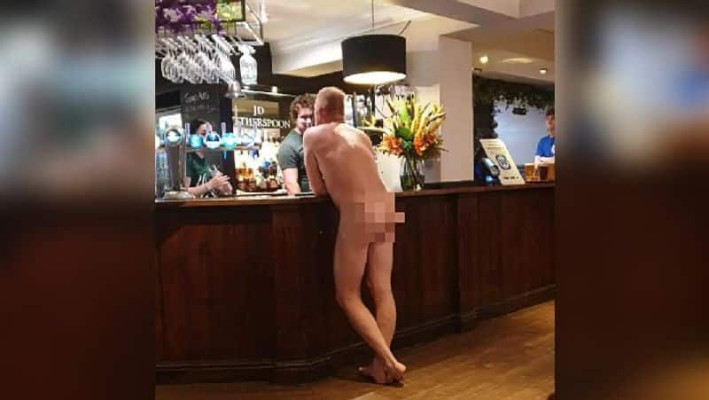 A man stripped naked in a bar in England apparently to win a bet of 20 euro ALB