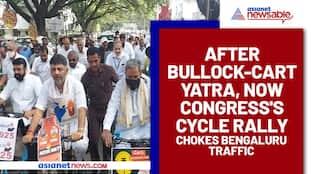After bullock-cart yatra, now Congress's cycle rally chokes Bengaluru traffic