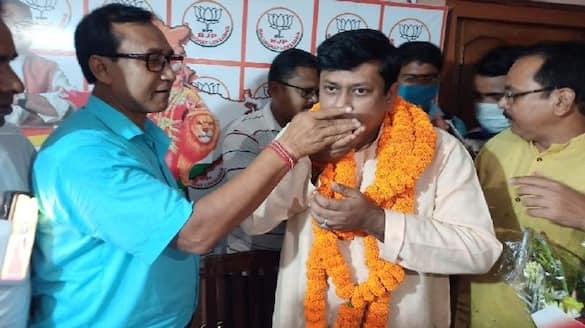 Celebration begins as soon as BJP announced the name of Sukanta Majumdar as state president bpsb