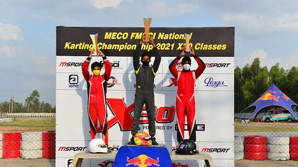 Bengaluru racers swept all  3 titles on Meco FMSCI National karting championship ckm