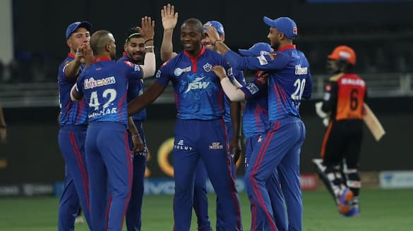 Sunrisers Hyderabad batted first and score 134 runs against Delhi Capitals in IPl 2021 at UAE spb