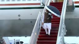 Modi in US: Prime Minister arrives in US, interacts with Diaspora outside airport