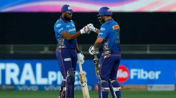 IPL 2021 quinton de kock help Mumabi Indians set 156 runs Target to  KKR in abu dhabi ckm