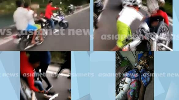 A case has been registered against a men hit by a bike racer in Neyyardam