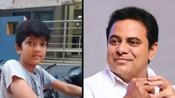 minister ktr tweets jagtial child paper boy video goes viral