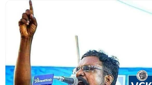 Thirumavalavan beats with courage against the DMK alliance ... the explosion that came with the flag