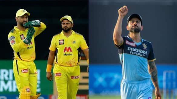 IPL 2021 RCB vs CSK MS Dhoni and Virat Kohli near new milestones