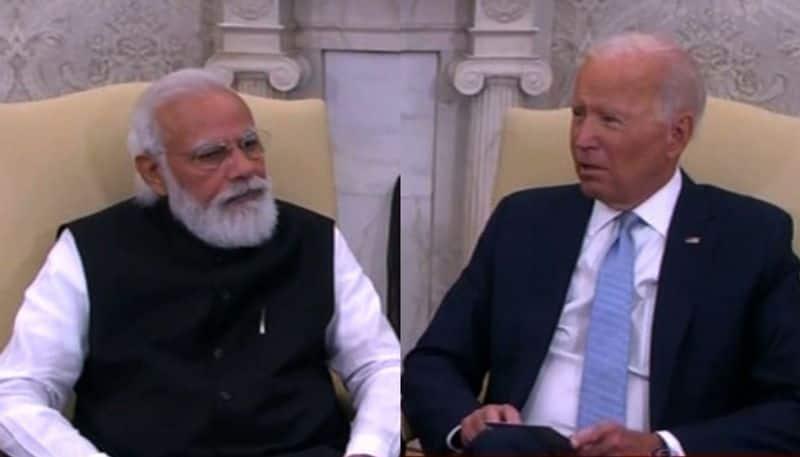 PM Narendra Modi-President Joe Biden hold first bilateral meeting  bpsb