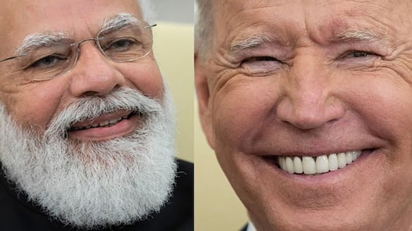 Joe Biden funny style during his meeting with PM Modi at the White House