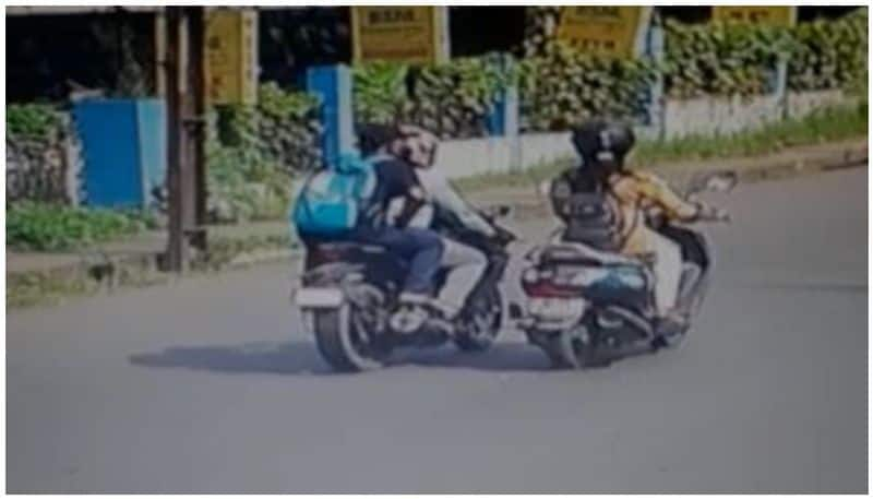 chain snatching incident caught on cctv in kottayam town