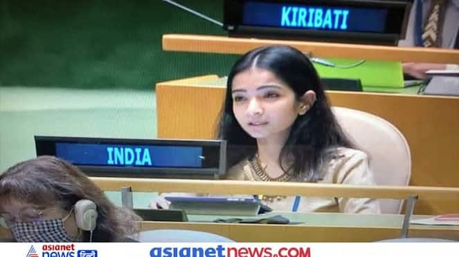 UNGA Sneha Dubey speech in which she answered Pakistan PM Imran Khan strongly