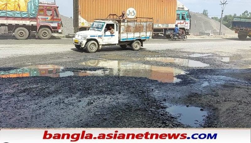 It has been alleged that the national highway in Raiganj is still in dilapidated condition in spite of Bus accident RTB