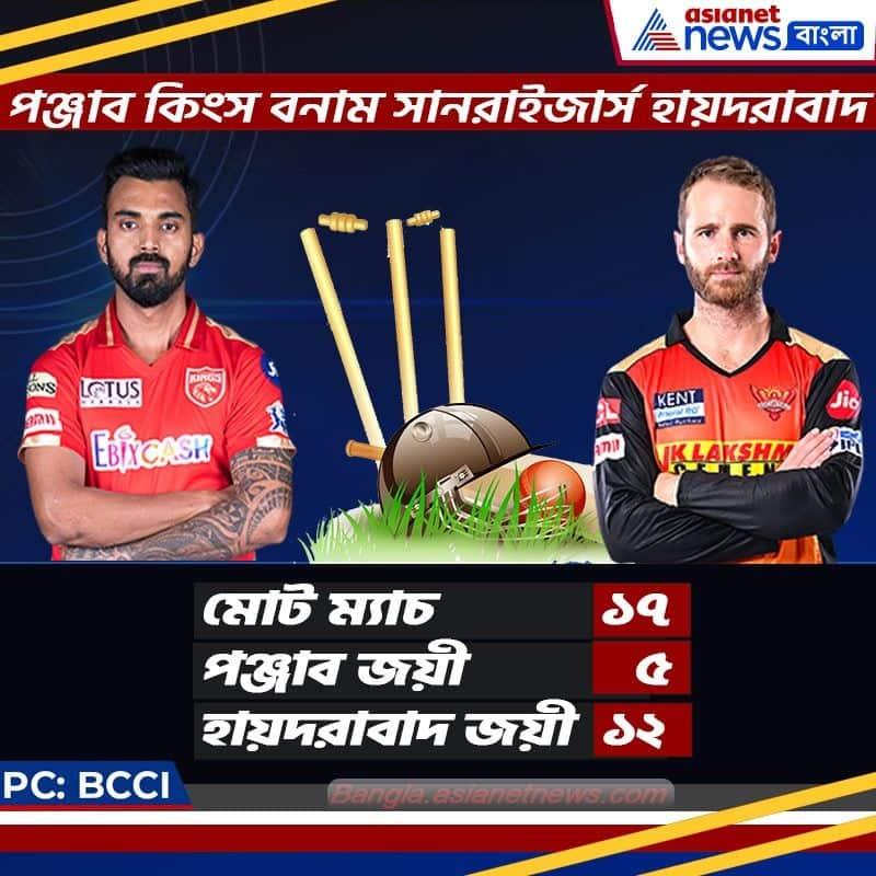 head to head statistics of PBKS vs SRH match in 2nd leg of IPL 2021 at UAE spb