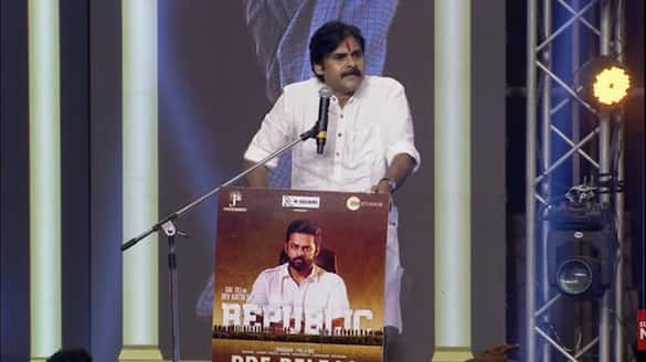 republic pre release event pawan interesting comments on mega heroes