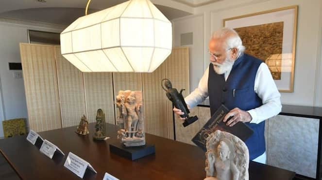 PM Modi brings home 157 artefacts from US over 200 returned since 2014 gcw