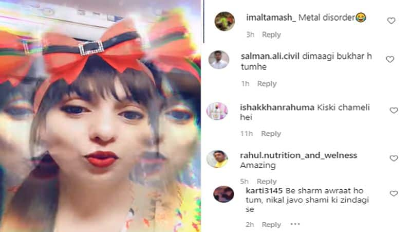 Mohammed Shami wife Hasin Jahan shares her funny video, fans says she has mental disorder