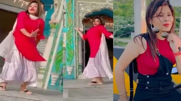madhya pradesh news chhatarpur girl aarti sahu danced in toria temple viral video