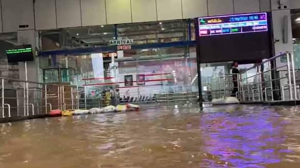 Visakhapatnam airport flooded after heavy rainfall
